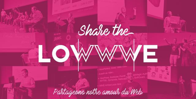 Paris-Web fête la Saint-Valentin 2017. Texte écrit : Share The Lowwwe, partageons notre amour du web