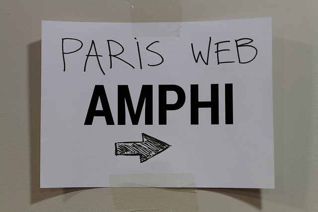 Pancarte de l'amphi Paris Web 2013