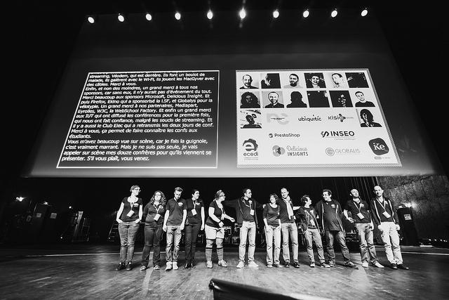 Le staff pendant la conférence de clôture de Paris Web 2015