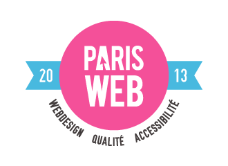 Logotype Paris Web 2013, webdesign, qualité et accessibilité.