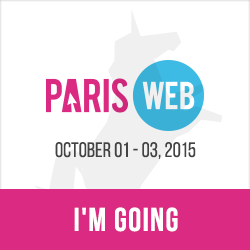 Paris Web 2015, October 1-3, 2015. Web design, quality and accessibility. I'm going!