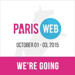 Paris Web, October 1-3, 2015. Webdesign, quality and accessibility. We're going!